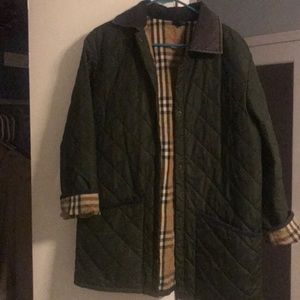 Authentic Vintage Burberry quilted collar jacket